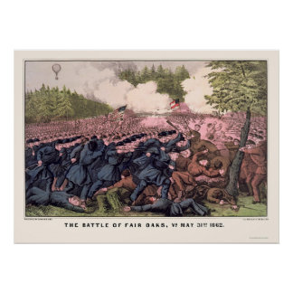 Battle of Fair Oaks by  1862 Poster