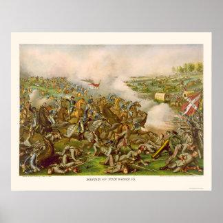 Battle of Five Forks, VA 1865 Poster