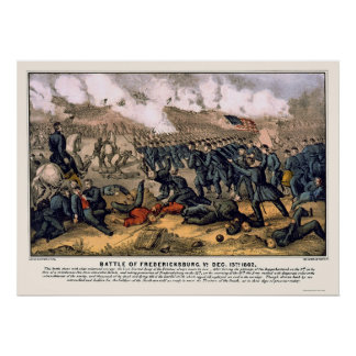 Battle of Fredericksburg by  1862 Poster