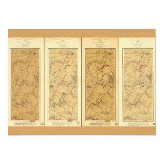 Battle of Gettysburg Field of Operations Map 1863 Card