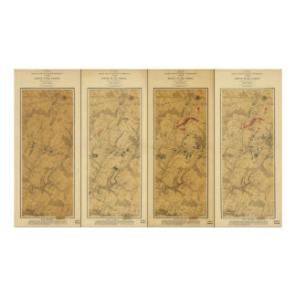 Battle of Gettysburg Field of Operations Map 1863 Poster