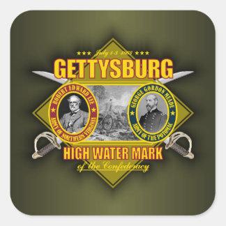 Battle of Gettysburg Square Sticker