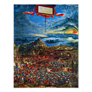 Battle Of Issus By Albrecht Altdorfer Poster