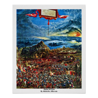 Battle Of Issus By Altdorfer, Albrecht Poster