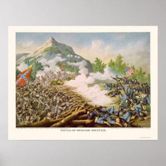 Battle of Kenesaw Mountain by Kurz & Allison 1864 Poster