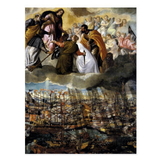 Battle of Lepanto by Paolo Veronese Postcard