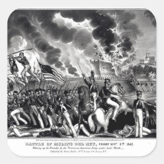 Battle of Molino del Rey Square Sticker