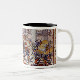 Battle of Neville's Cross from the Hundred Two-Tone Coffee Mug