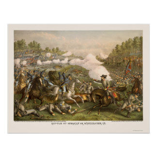 Battle of Opequan by Kurz and Allison 1864 Poster
