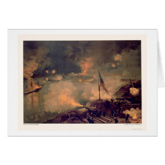 Battle of Port Hudson by L. Prang & Company 1887 Card