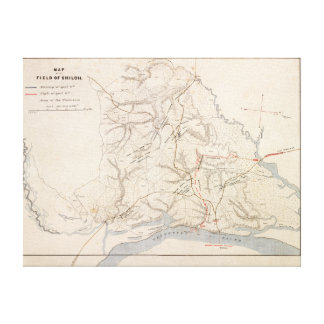 Battle of Shiloh - Civil War Panoramic Map 4 Gallery Wrap Canvas