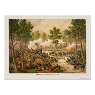 Battle of Spottsylvania by Kurz and Allison 1864 Poster