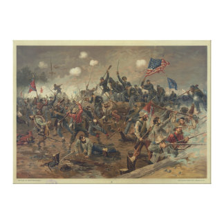 Battle of Spottsylvania by L. Prang & Co. (1887) Stretched Canvas Print