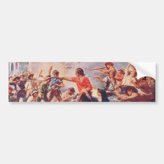 Battle of the Alamo by Percy Moran Bumper Stickers