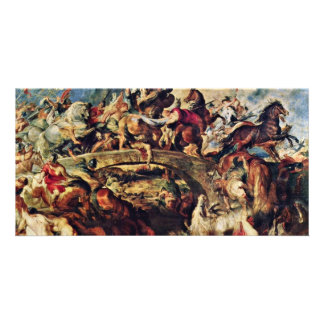 Battle Of The Amazons By Rubens Peter Paul Photo Card Template