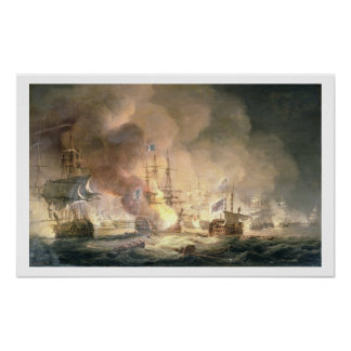Battle of the Nile, 1st August 1798 at 10pm, 1834 Poster