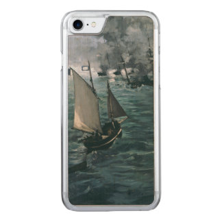 Battle of USS Kearsarge and CSS Alabama by Manet Carved iPhone 7 Case