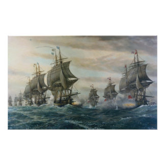 Battle of Virginia Capes Canvas Poster