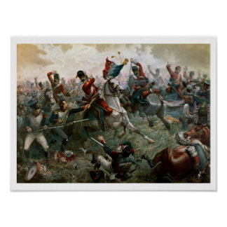 Battle of Waterloo, 18th June 1815, 1898 (colour l Poster