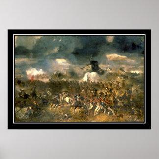 Battle of Waterloo Vintage Poster