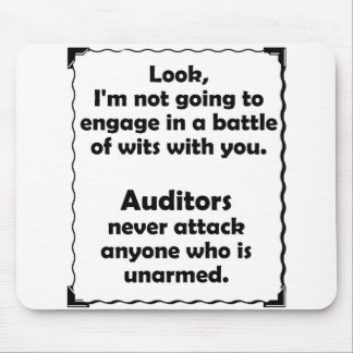 Battle of Wits Auditor Mouse Pad