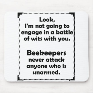 Battle of Wits Beekeeper Mouse Pad