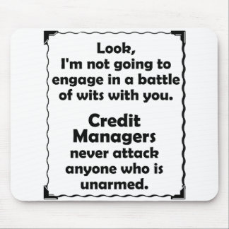 Battle of Wits Credit Manager Mouse Pad
