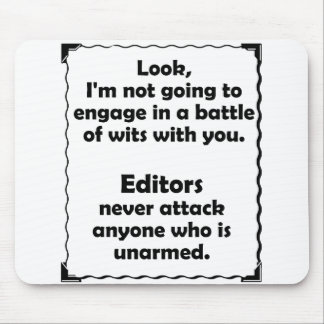 Battle of Wits Editor Mousepad