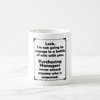Battle of Wits Purchasing Manager Basic White Mug