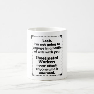Battle of Wits Sheetmetal Worker Coffee Mug
