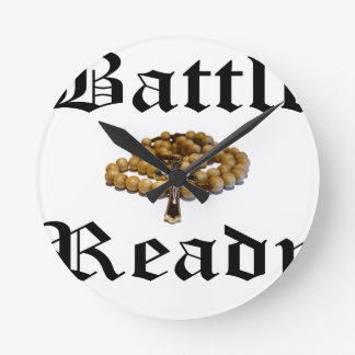 Battle Ready Round Clock