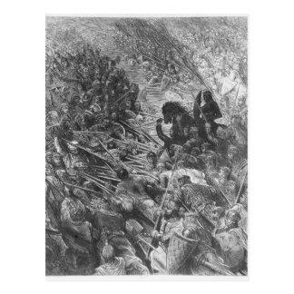 Battle scene, illustration from 'Orlando Furioso' Postcard