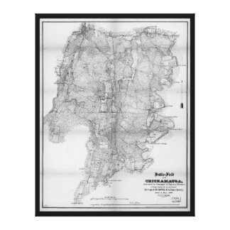 Battlefield of Chickamauga Map Sept 19-20 1863 Stretched Canvas Print