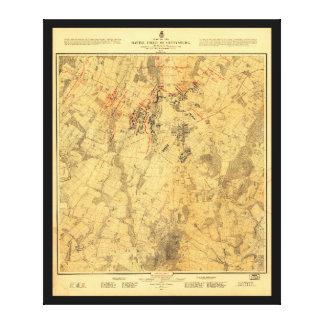 Battlefield of Gettysburg Map by John Bachelder Canvas Prints