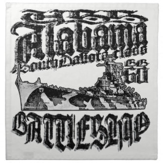 Battleship Alabama Cloth Napkin