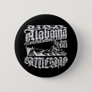 Battleship Alabama Round Button Button