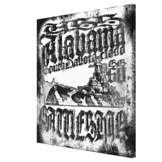 Battleship Alabama Stretched Canvas Print