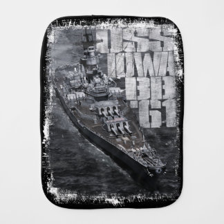 Battleship Iowa Burp Cloth Burp Cloth