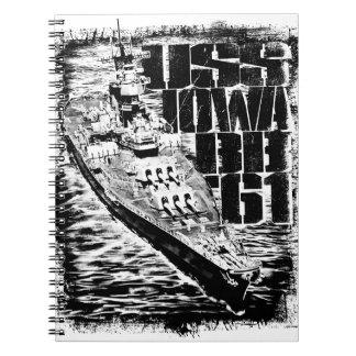 Battleship Iowa Spiral Photo Notebook