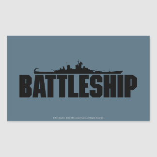 Battleship Rectangular Sticker