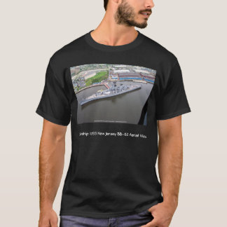 Battleship USS New Jersey BB-62 Aerial View T-Shirt