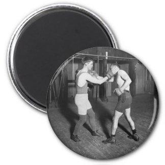 Battling Nelson aka The Durable Dane, 1920s 6 Cm Round Magnet