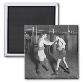 Battling Nelson aka The Durable Dane, 1920s Square Magnet