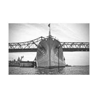 Battlship Cove Canvas Wrap