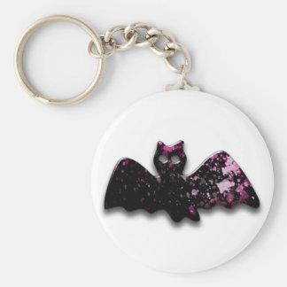 Batty Basic Round Button Key Ring