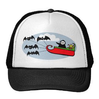 Batty Christmas Sleigh Trucker Hat