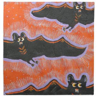 Batty Flight Halloween Cloth Napkin