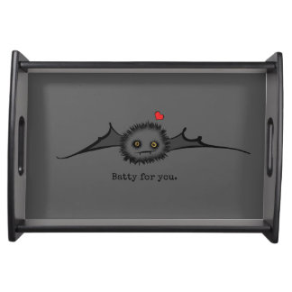 BATTY FOR YOU Cute Vampire Bat Serving Tray