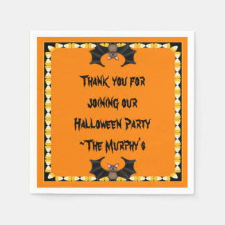 Batty Halloween Paper Napkins Disposable Napkin