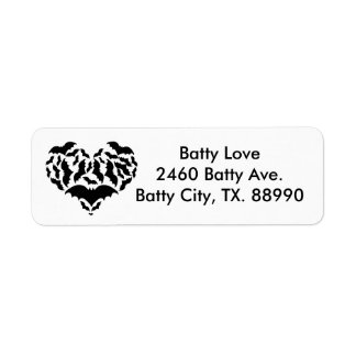 Batty Love Return Address Label
